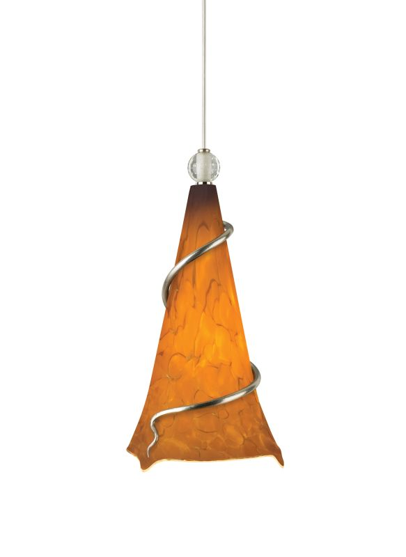 Tech Lighting 700TDOVPAAN-CF Ovation Tahoe Pine Amber Hand Pulled
