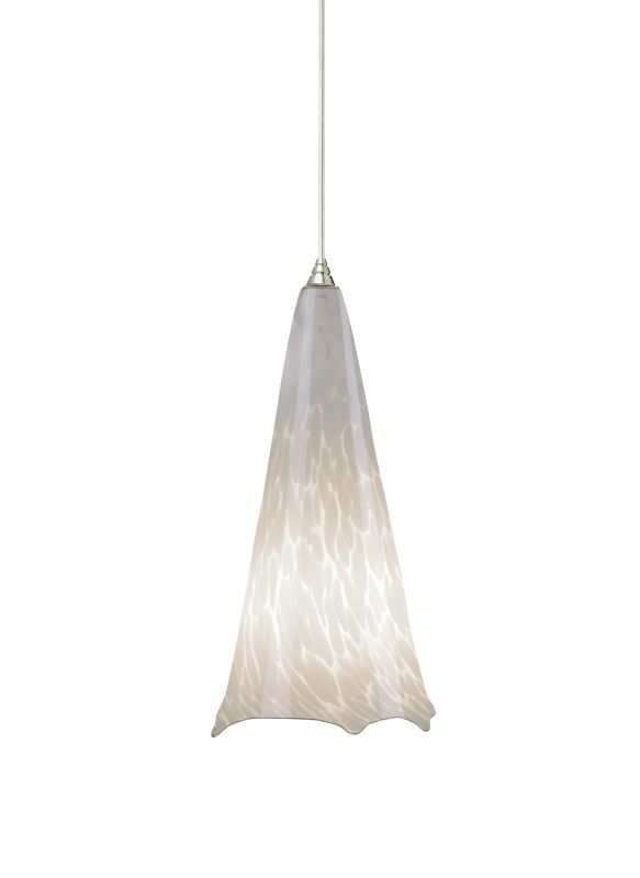 "Tech Lighting 700TDOVPWNN-CF277 Ovation White Frit Hand Pulled Glass Sale $428.80 ITEM#: 2981630 MODEL# :700TDOVPWNNW-CF277 UPC#: 884655055574 Features: Hand pulled glass shade, richly layered in brilliant color, with machined top or glass ball detail suspended from a round canopy Black, satin nickel, and white canopy options include satin nickel top detail and clear cable; antique bronze includes antique bronze detail and brown cable Includes 120 volt, 75 watt A19mediumbase lamp or 18 watt GX24Q-2 base triple tube compact fluorescent lamp (electronic ballast included) Fixture is provided with six feet of field-cuttable cable Incandescent version dimmable with standard incandescent dimmer Shown in Satin Nickel finishLamping Technologies: Bulb Base - CFL Plug-in - This is a quad-pin base with two bi-pin pairs. These are used with compact fluorescent tubes that plug into a light fixture that has a permanent ballast.Specifications: Number of Bulbs: 1 Bulb Base: CFL Plug-in Bulb Type: Compact Fluorescent Bulb Included: Yes Watts Per Bulb: 18 Wattage: 18 Voltage: 277 Height: 13"" Width: 6.5"" Energy Star: No :"