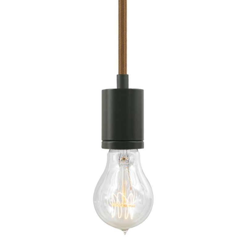 "Tech Lighting 700TDSOCOPM24Z SoCo 1 Light Mini Pendant with Bronze Sale $132.00 ITEM#: 2541668 MODEL# :700TDSOCOPM24NZ UPC#: 884655286121 The SoCo system of Sockets & Cords delivers choice, flexibility and the power of custom design. The SoCo sockets accommodates any 120 volt, medium base lamp up to 150 watts (not included). We have made it easy to create your own look. Mix, match and cluster to create a truly unique light sculpture or just install a few at a time to put light exactly where you need it. Available in 2 socket styles, 3 standard lengths, 7 cord colors, and 4 finishes. Ships with matching canopy. Consult factory for custom cord colors and lengths. We stock and make it easy to order some of the most popular lamps including several energy efficient LED and compact fluorescent options. Features: Antique Bronze Modern Socket 24 Foot Fabric Cord Includes Round 4"" Flush Canopy ETL Listed for Damp Locations Compatible with any Medium Base lamp up to 150 Watts (Sold Separately) Specifications: Bulb Base: Medium (E26) Bulb Included: No Canopy Width: 4 Cord Length: 288 Dimmable: Yes ETL Listed: Yes ETL Rating: Damp Location Height: 2.25 Light Direction: Down Lighting Location Rating: Damp Location Material: Metal Maximum Height: 288 Number of Bulbs: 1 Pendant Type: Mini Shade: No Sloped Ceiling Compatible: Yes Voltage: 120 Watts Per Bulb: 150 Width: 1.68 Not sure what you need for your space? Call us to help you configure a lighting system that suits your needs, including multi-light canopies, swag hooks, custom cord colors and lengths. :"