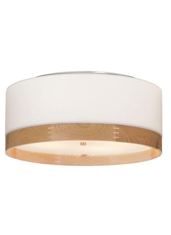 "Tech Lighting 700TPO24WM Topo 4 Light 24"" Stem White Fabric / Maple"