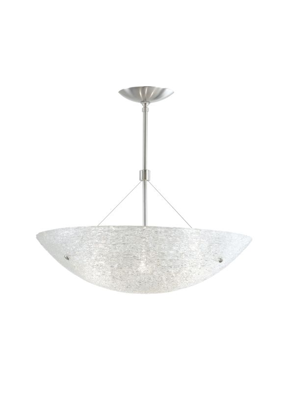 "Tech Lighting 700TRAS2324C Trace 24"" Glass Bowl Semi-Flush Suspension"