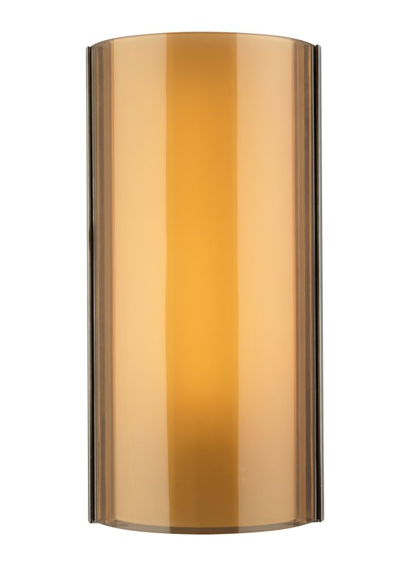 Tech Lighting 700WSJXNN-LED Jaxon LED Havana Brown Glass Wall Sconce