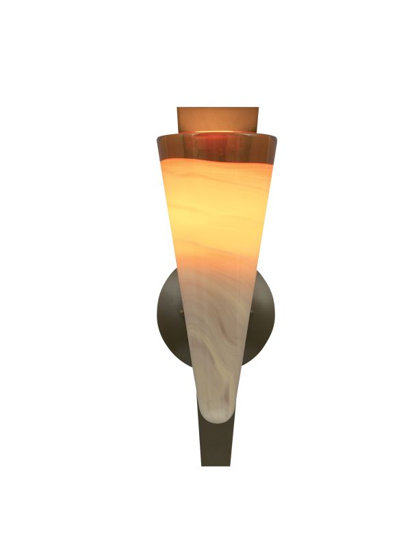Tech Lighting 700WSNEBA Nebbia Hand-Blown Fused Amber Glass Wall