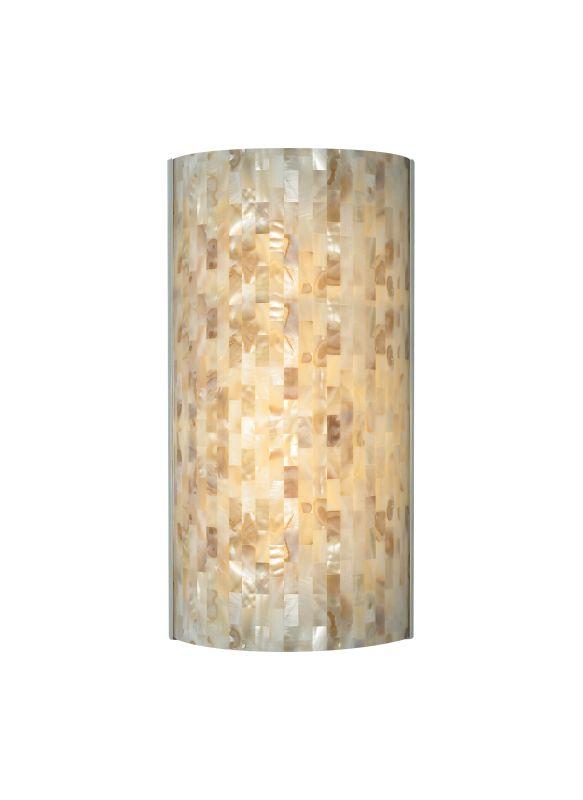 Tech Lighting 700WSPLAFN Playa Flush Multi-Toned Natural Shell Panel