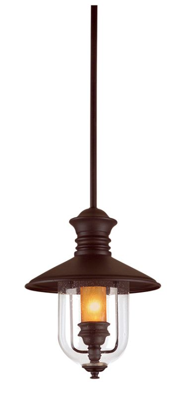 """Troy Lighting F9363 Old Town 1 Light 12"""" Outdoor Lantern Pendant with"""