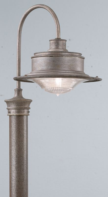 "Troy Lighting P9393 South Street 1 Light 17"" Post Light with Ribbed"