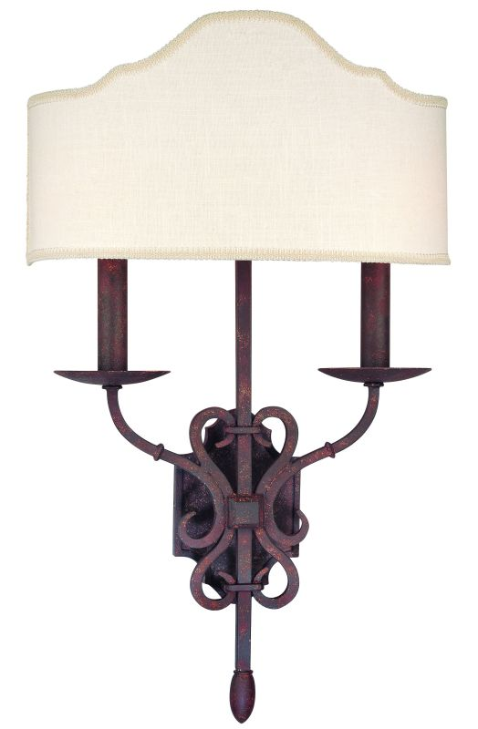 Troy Lighting B2522 Seville 2 Light Double Wall Sconce with Fabric Sale $362.00 ITEM#: 1597986 MODEL# :B2522WI UPC#: 782042758667 :