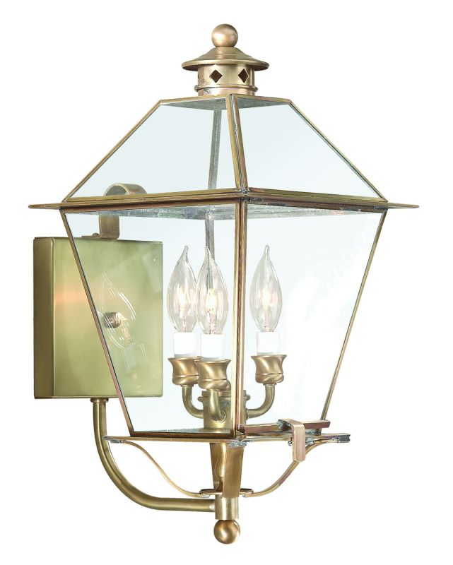 "Troy Lighting BCD8954 Montgomery 3 Light 20"" Outdoor Wall Sconce with"