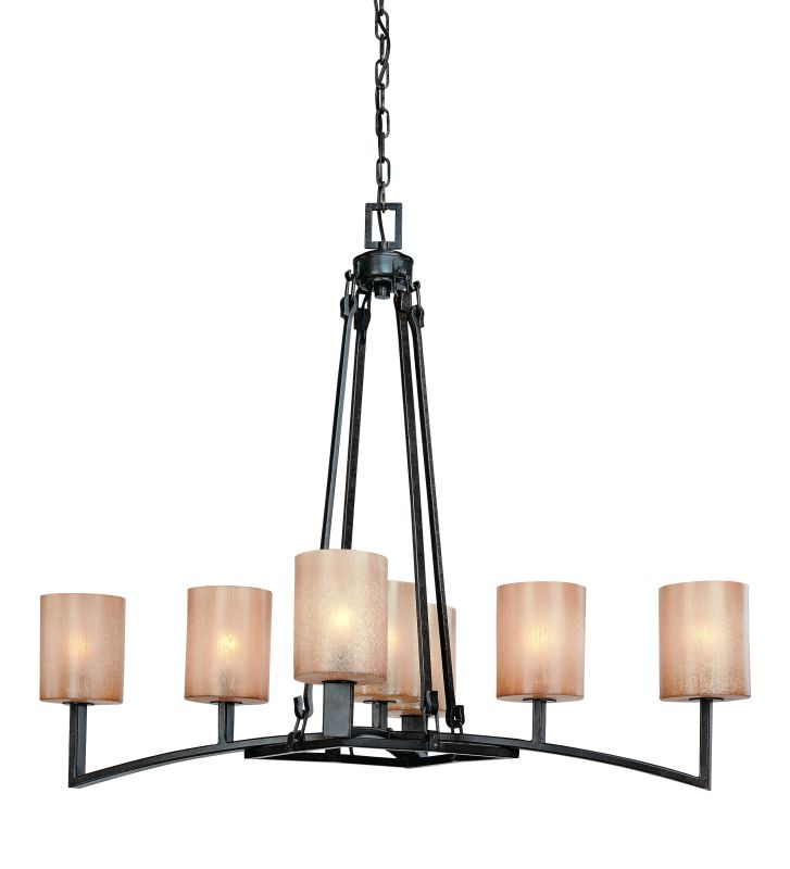 Troy Lighting F1747 Austin 7 Light Chandelier with Glass Shades