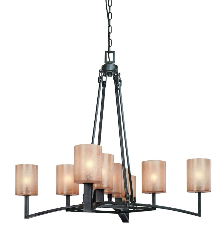 Troy Lighting F1749 Austin 9 Light Chandelier with Glass Shades