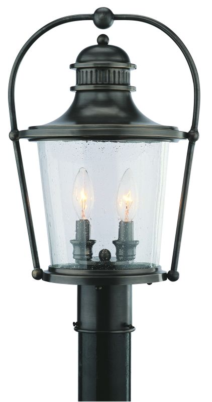 Troy Lighting P2035 Guild Hall 2 Light Post Light with Seedy Glass Sale $302.31 ITEM#: 1598285 MODEL# :P2035EB UPC#: 782042928589 :