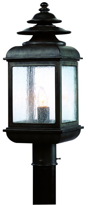 "Troy Lighting P5076 Adams 1 Light 21"" Outdoor Post Light Colonial Iron"