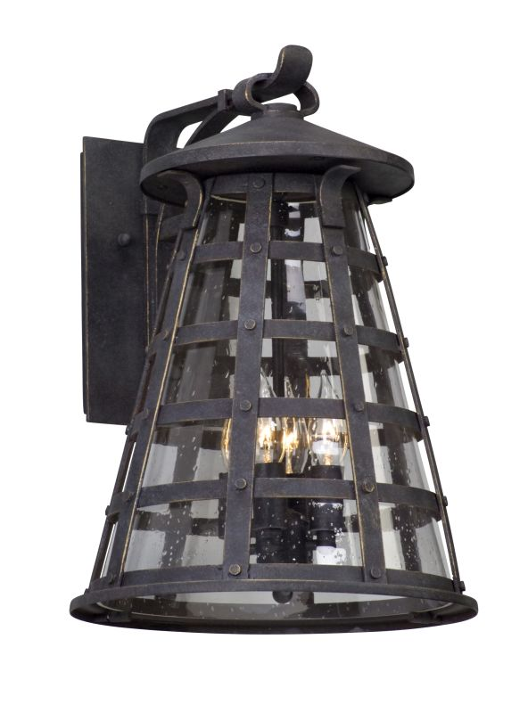"Troy Lighting B5163 Benjamin 4 Light 12.5"" Wide Outdoor Wall Sconce Sale $458.00 ITEM#: 2876167 MODEL# :B5163 UPC#: 782042104051 :"