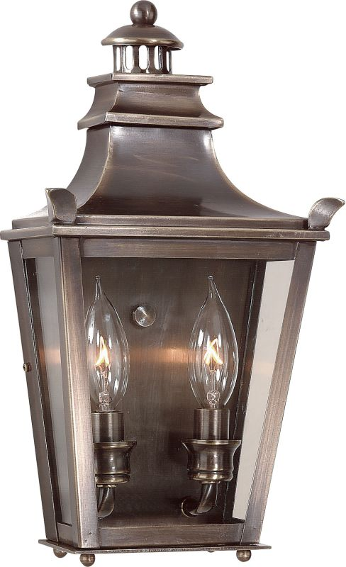 "Troy Lighting B9492 Dorchester 2 Light 14"" Outdoor Wall Sconce English"