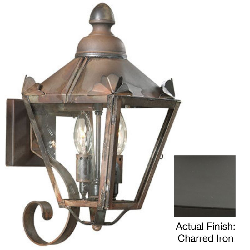 "Troy Lighting BCD8940 Preston 2 Light 16"" Outdoor Wall Sconce with"