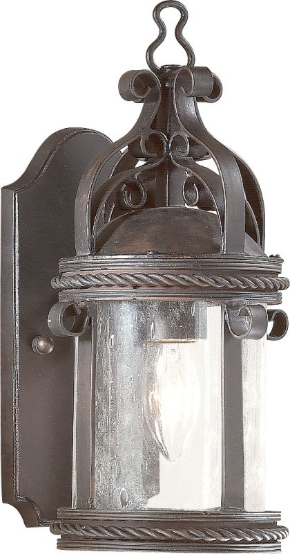 """Troy Lighting BCD9120 Pamplona 1 Light 12"""" Outdoor Wall Sconce with"""