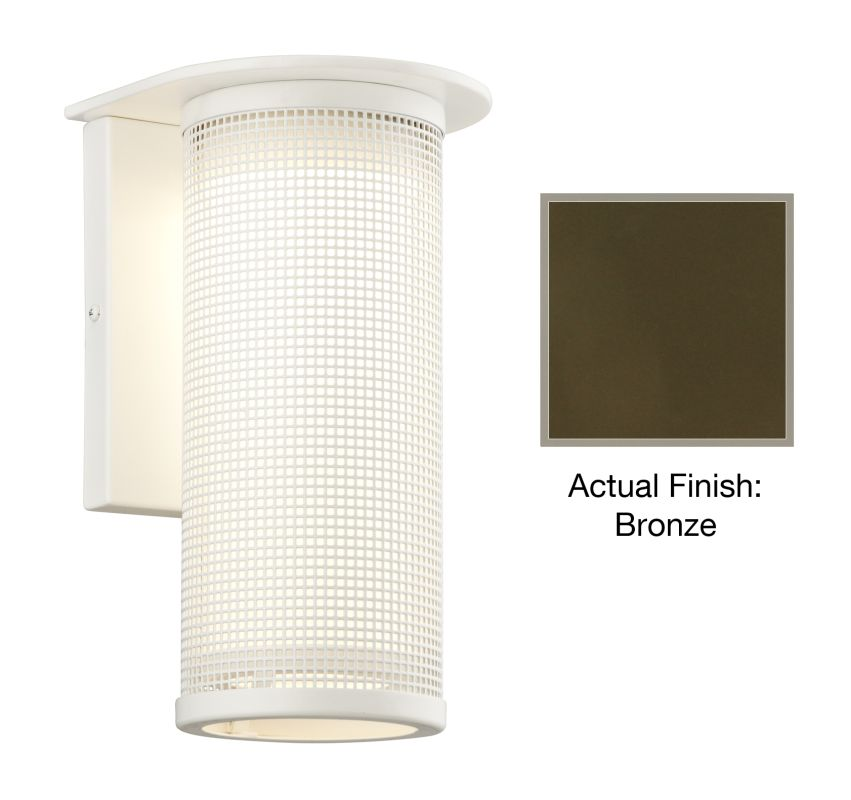 """Troy Lighting BL3742 Hive 1 Light 12"""" LED Outdoor Wall Sconce Bronze"""