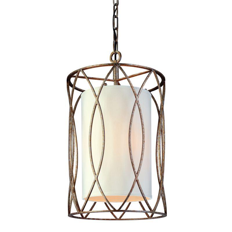 Troy Lighting F1287 Sausalito 3 Light Pendant with Fabric Shade Silver Sale $482.00 ITEM#: 1597974 MODEL# :F1287SG UPC#: 782042668454 :