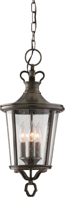 Troy Lighting F1386EB Britannia 3 Light Outdoor Lantern Pendant with