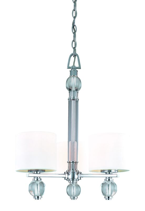 Troy Lighting F1588 Bentley 3 Light Chandelier with Fabric Shades