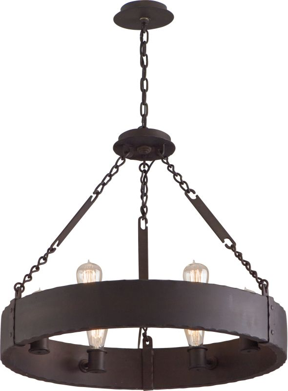Troy Lighting F2503 Jackson 6 Light Wrought Iron Chandelier Copper
