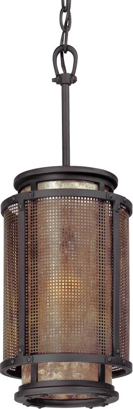 Troy Lighting F3102 Copper Mountain 1 Light Pendant with Silver Mica