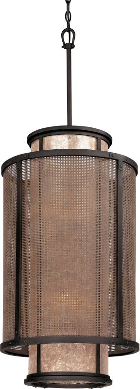 """Troy Lighting F3103 Copper Mountain 8 Light 32"""" Pendant with Silver"""