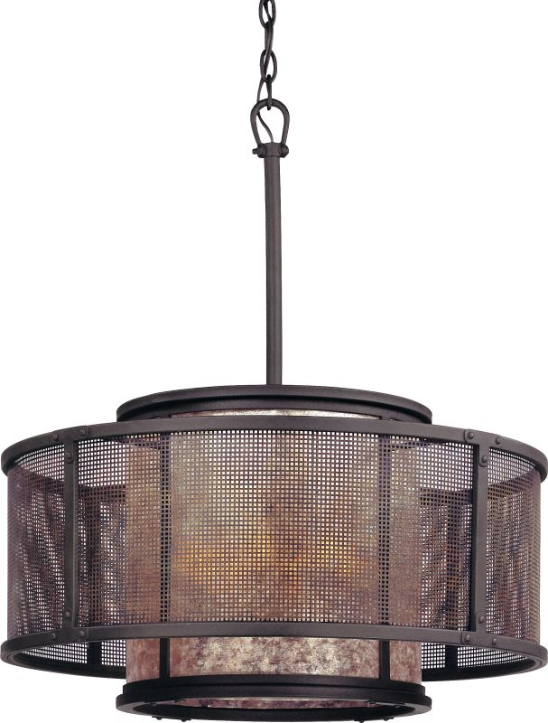 Troy Lighting F3105 Copper Mountain 6 Light Drum Pendant with Silver