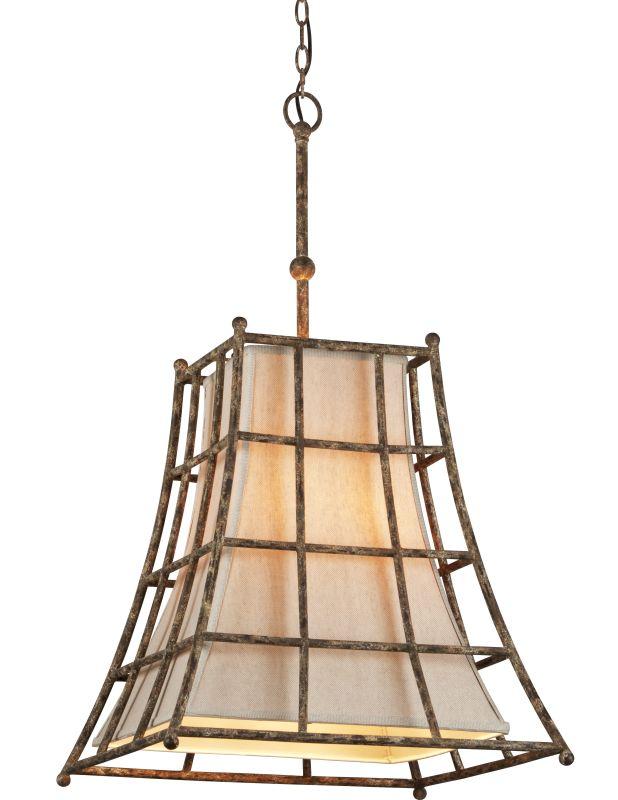 Troy Lighting F3785 Left Bank 5 Light Pendant with Linen Shade Coastal Sale $250.77 ITEM#: 2344674 MODEL# :F3785 UPC#: 782042826205 :