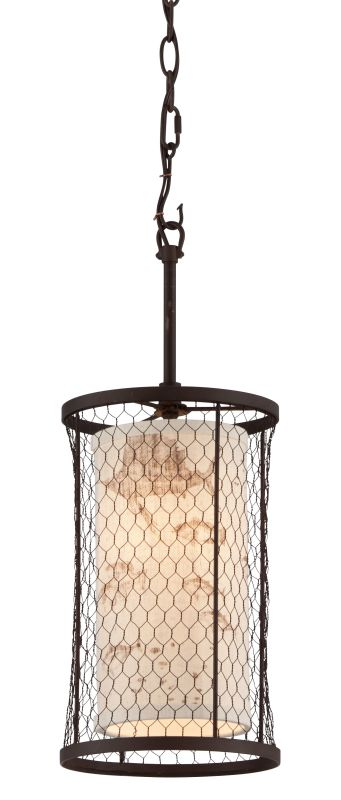 Troy Lighting F4023 Catch N Release 1 Light Pendant with Fabric Shade