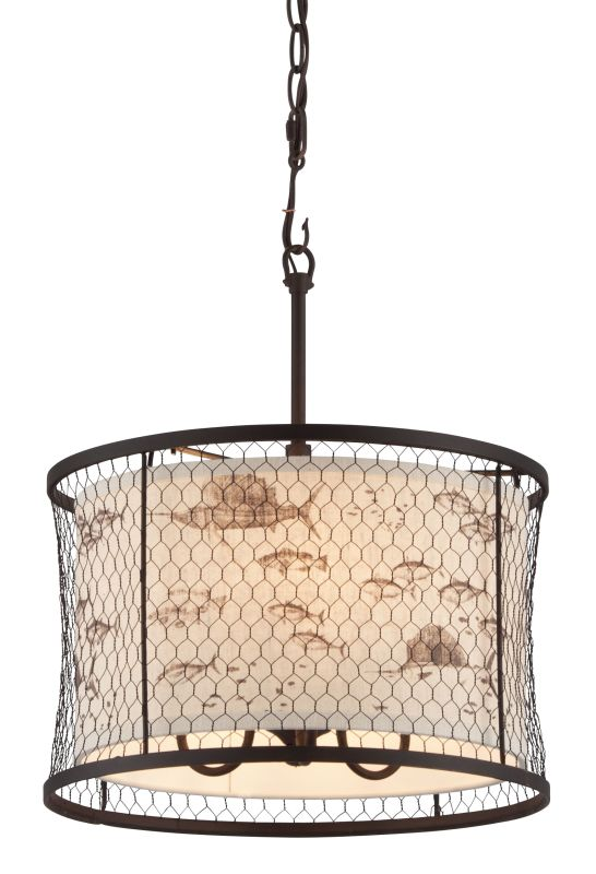Troy Lighting F4024 Catch N Release 3 Light Pendant with Fabric Shade Sale $166.16 ITEM#: 2433172 MODEL# :F4024 UPC#: 782042845312 :