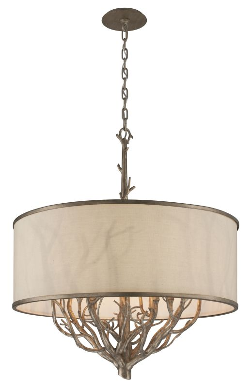 Troy Lighting F4108 Whitman 8 Light Pendant with Fabric Shade Vienna