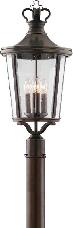 Troy Lighting P1385 Britannia 4 Light Post Light with Seedy Glass