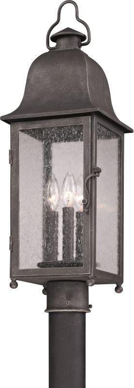Troy Lighting P3215 Larchmont 3 Light Post Light with Seedy Glass Aged Sale $484.00 ITEM#: 2065650 MODEL# :P3215 UPC#: 782042792715 :