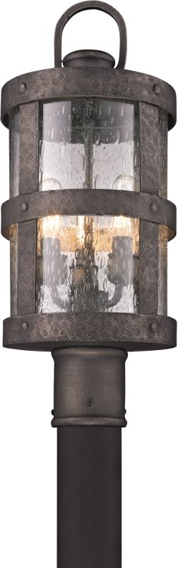 Troy Lighting P3316 Barbosa 3 Light Post Light with Seedy Glass Sale $418.00 ITEM#: 2065655 MODEL# :P3316 UPC#: 782042792760 :