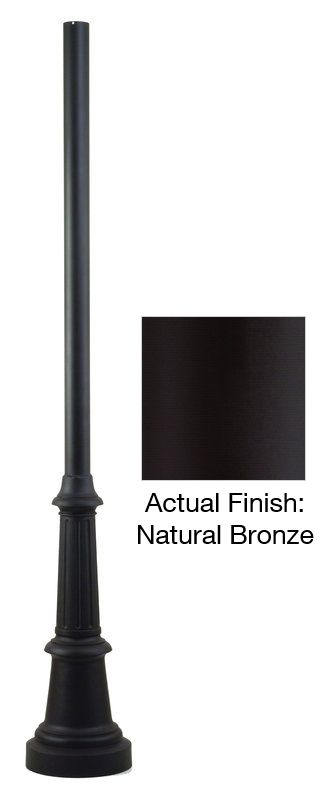 "Troy Lighting P8683-84 84"" x 3"" Smooth Extruded Aluminum Post Natural"