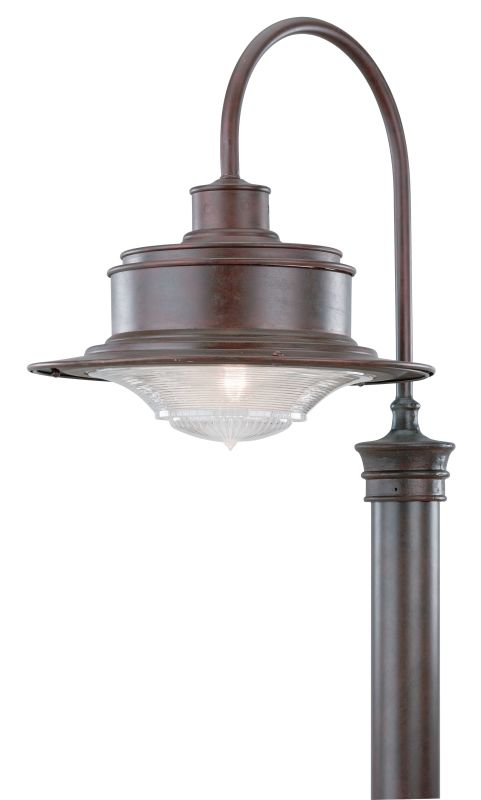 """Troy Lighting P9394 South Street 1 Light 21"""" Post Light with Ribbed"""