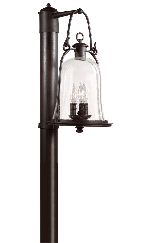 Troy Lighting P9465 Owings Mill 3 Light Post Light with Seedy Glass