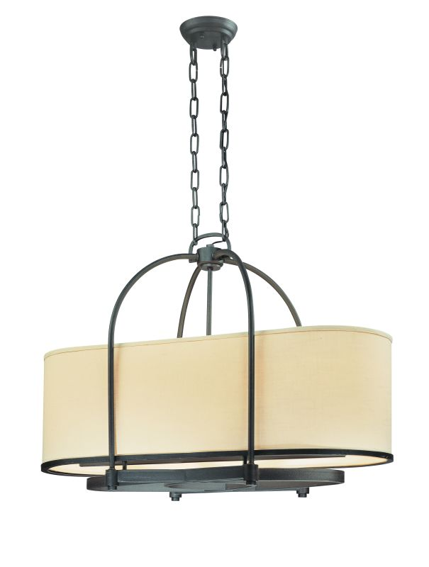 Troy Lighting FF1805 Redmond 4 Light CFL Linear Chandelier Federal