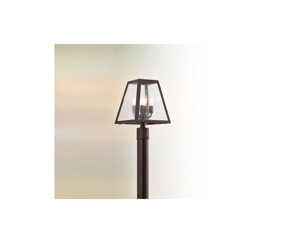 Troy Lighting P3435 Amherst 4 Light Post Light with Glass Shade River Sale $628.00 ITEM#: 2065660 MODEL# :P3435-C UPC#: 782042796126 :