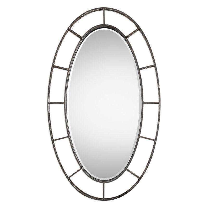 Uttermost 09182 Gilliam 58 Inch x 35 Inch Oval Beveled Framed Mirror