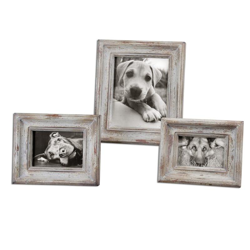 Uttermost 18565 Wood Niho Niho Picture Frames - Set of 3