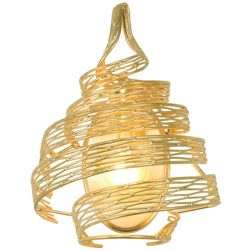 Varaluz 247W01 Flow 1 Light Wall Sconce Gold Leaf Indoor Lighting