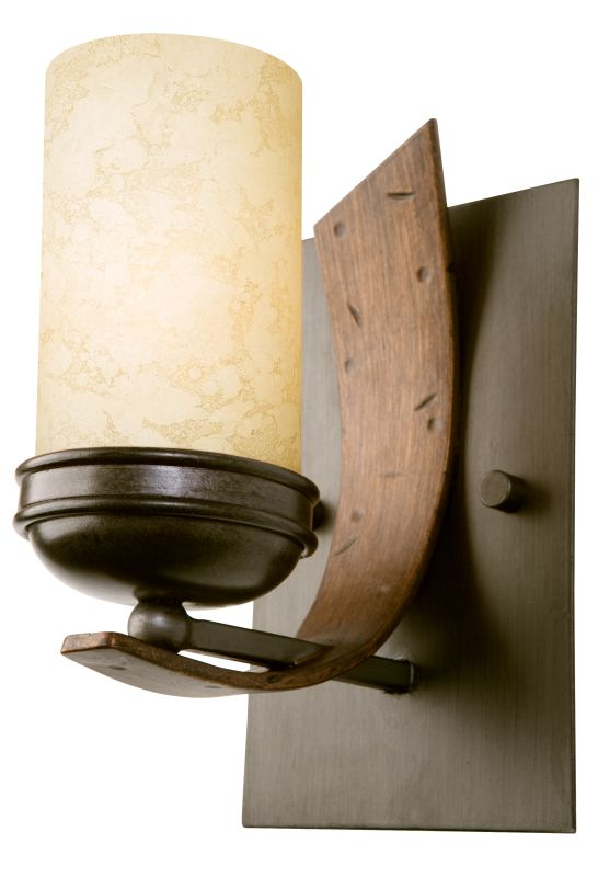 Varaluz 112B01 One Light Bathroom Wall Sconce Made From Recycled Steel
