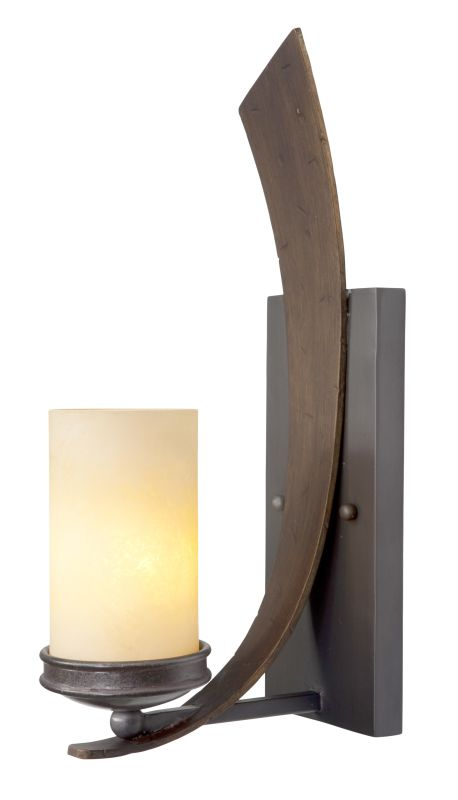 Varaluz 112W01 Single Light Wall Sconce Hand Forged From Recycled