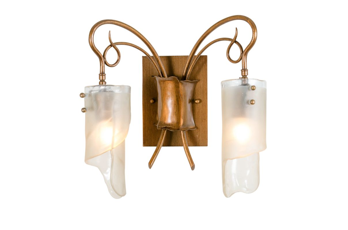 Varaluz 126B02 Two Light Bathroom Vanity Fixture from the Soho