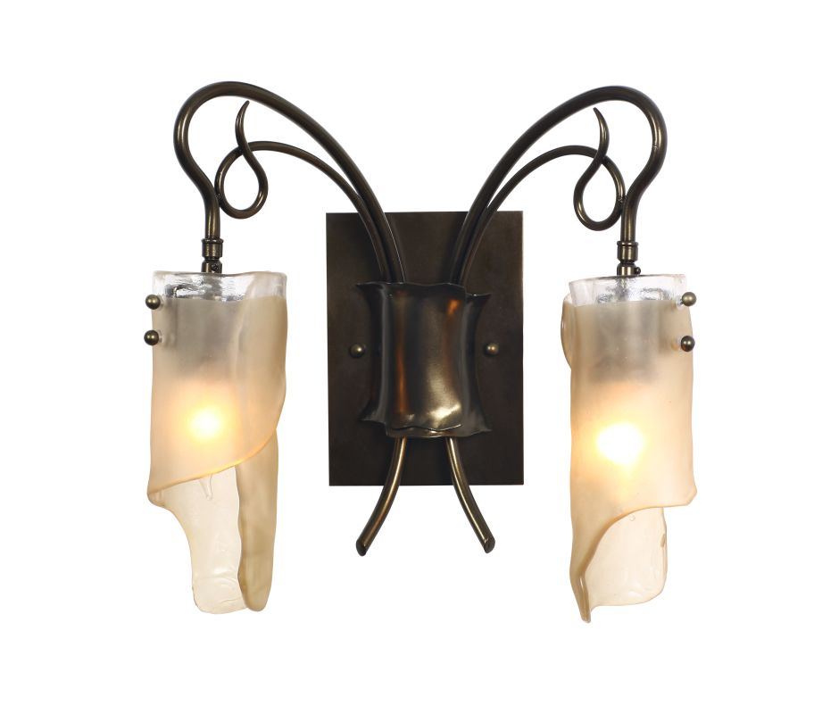 Varaluz 126B02SG Soho Statue Garden Two Light Bathroom Vanity Statue