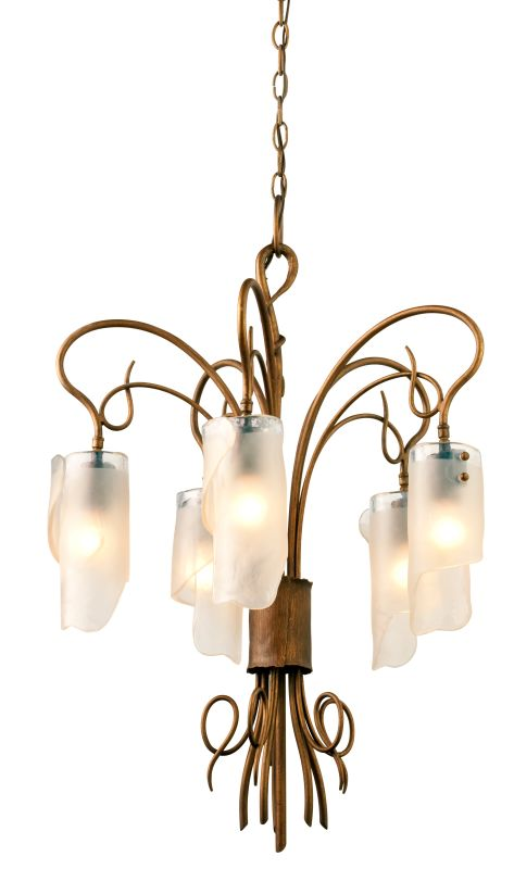 Varaluz 126C05 5 Light Chandelier Made From Recycled Steel from the