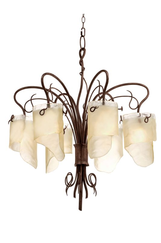 Varaluz 126C06 Six Light Chandelier from the Soho Collection Hammered