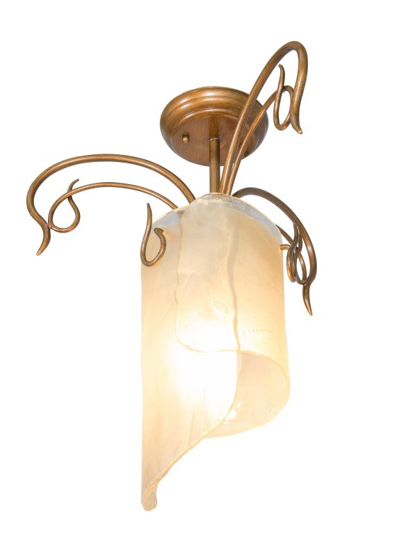 Varaluz 126S01 1 Light Recycled Semi-Flush Ceiling Fixture from the
